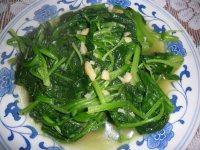 家常菜蒜蓉炒菠菜