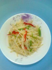 家常菜土豆青椒丝