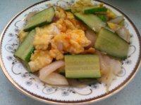家常菜黄瓜炒鸡蛋