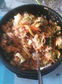 美味的韩式石锅拌饭