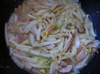 家常菜白菜炒牛肚