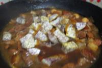 美味的香芋红烧肉