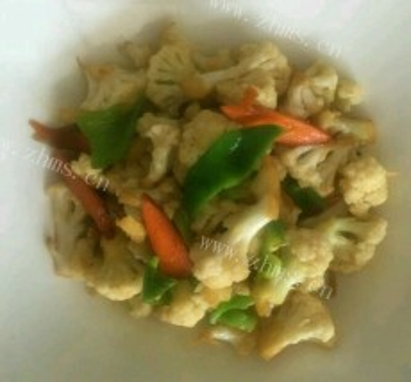 简单易做的炒菜花