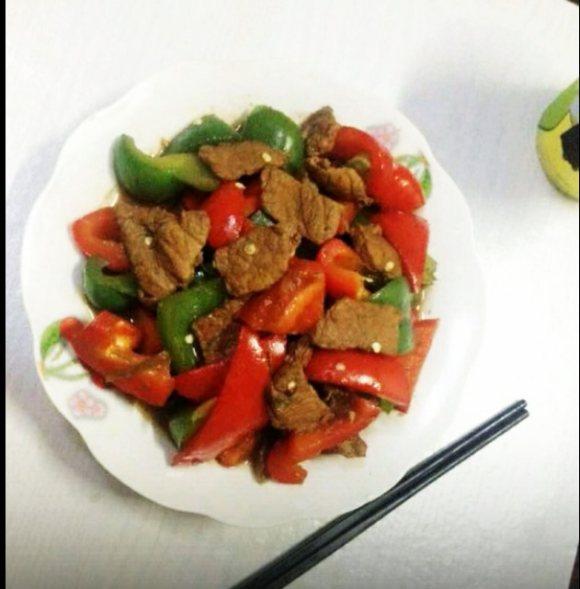 垂涎欲滴的青椒炒肉
