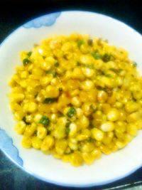 家常菜青椒玉米粒