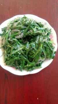 家常菜韭菜炒粉丝