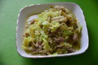 家常菜西葫芦炒肉丝
