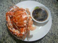 美味的清蒸花蟹