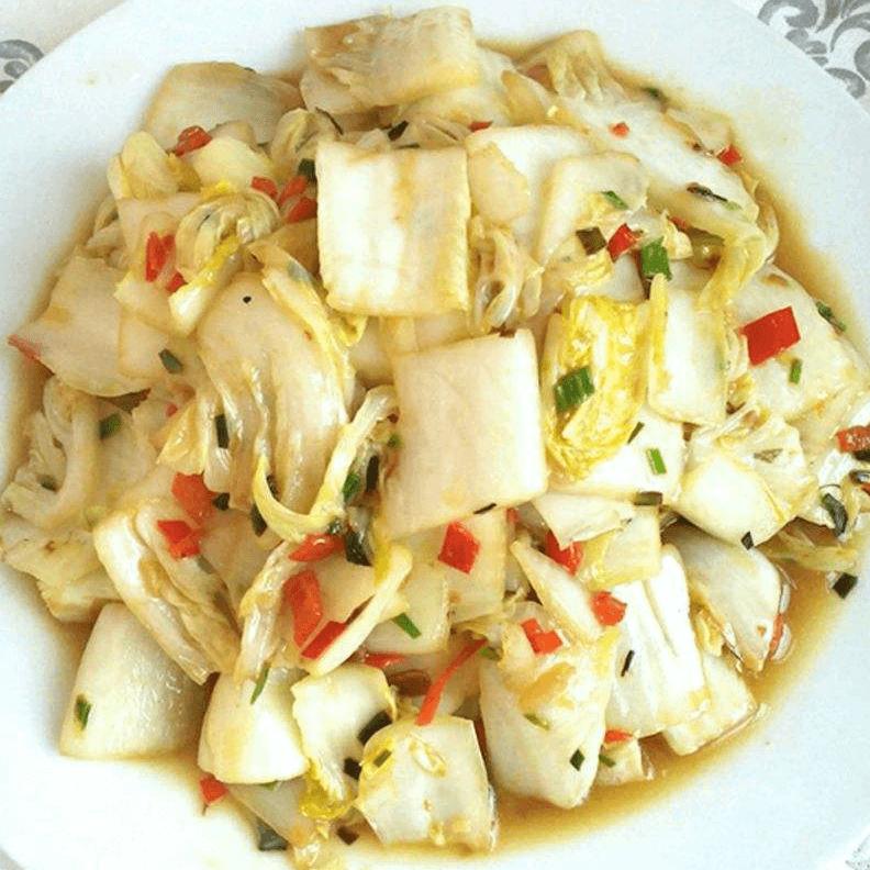 柿子椒炒白菜