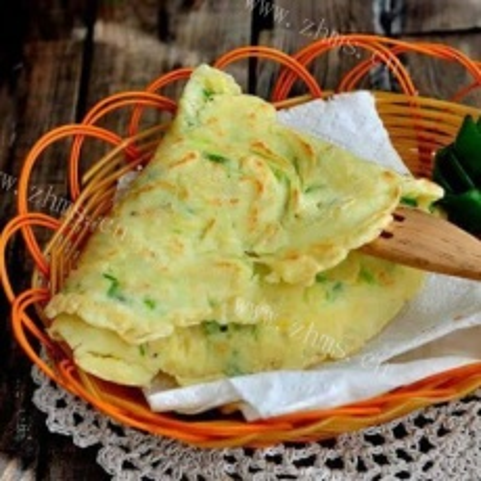 香葱虾皮煎饼