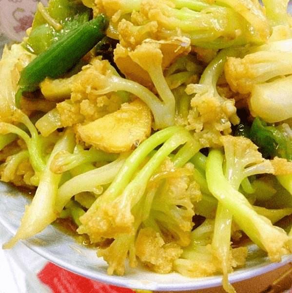 下饭的素炒菜花