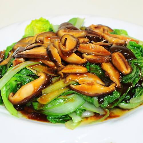 味道不错的香菇油菜