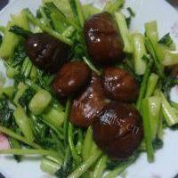 家常菜香菇炒菜心