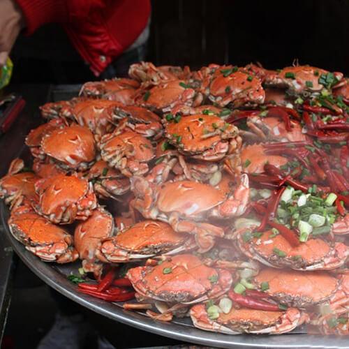 美味的蒸螃蟹