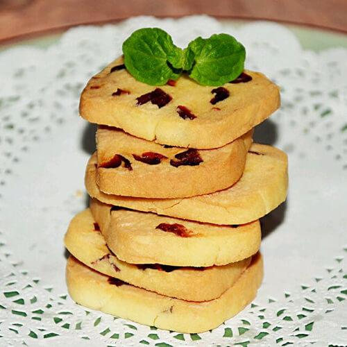 热腾腾的蔓越莓饼干