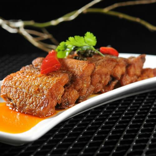 美味的家常红烧带鱼