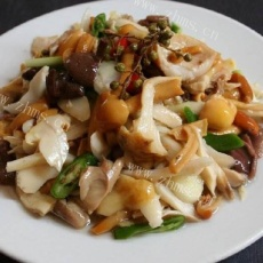 家常菜蘑菇炒肉
