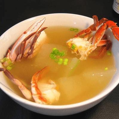 冬瓜毛豆螃蟹汤