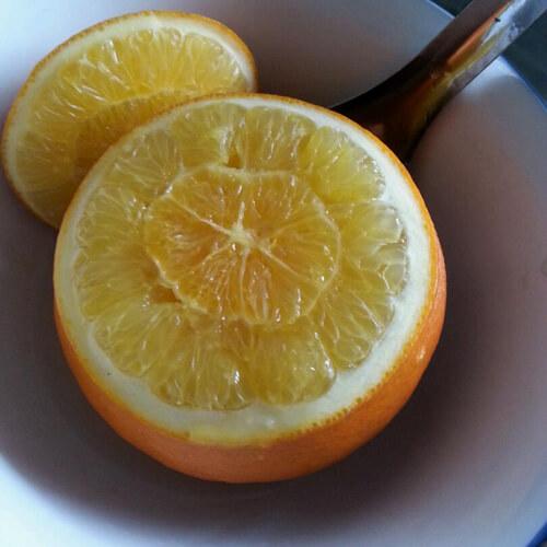 【自创】盐蒸橙子