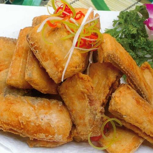珍馐美味的干炸带鱼