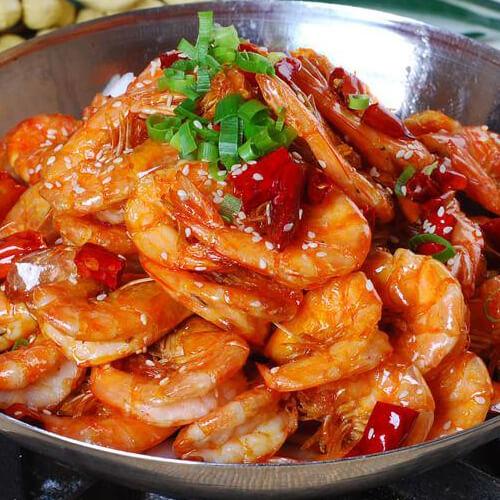 美味的干锅香辣虾