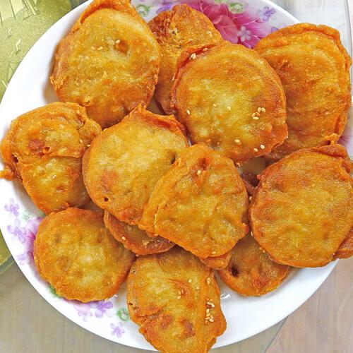 香煎鸡蛋藕饼