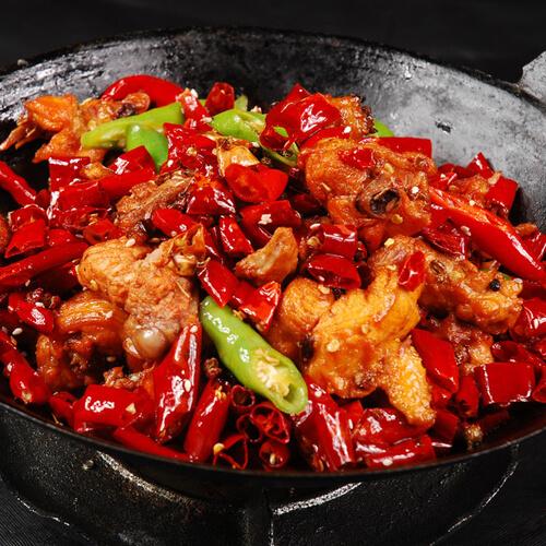 在家做的香辣干锅虾