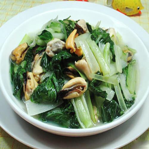 小白菜炒淡菜