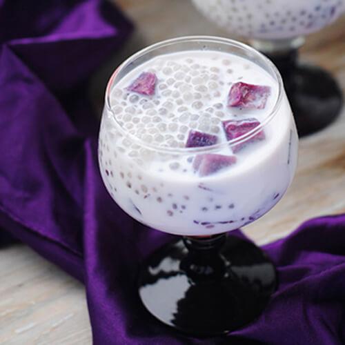 美味的牛奶紫薯糖水