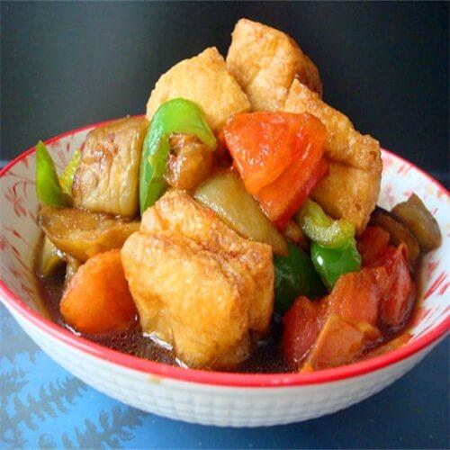 香辣油豆腐烧茄子