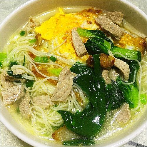 美味鸡蛋肉片汤