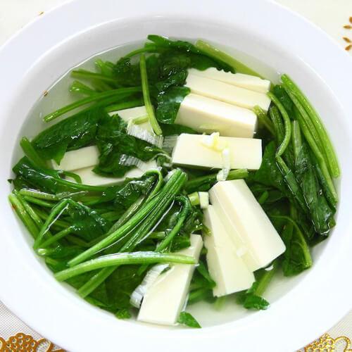 清淡的菠菜豆腐