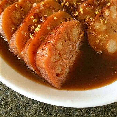 红糖红枣糯米藕