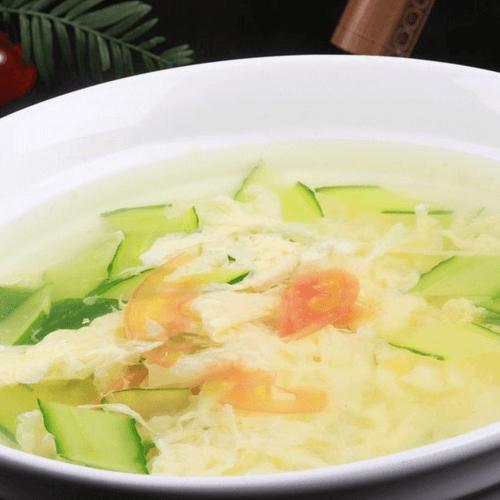 黄瓜柿子鸡蛋汤