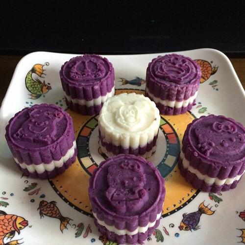 香甜紫薯山药糕