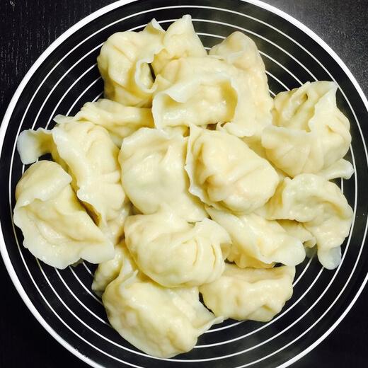 豆角鸡蛋虾皮饺子