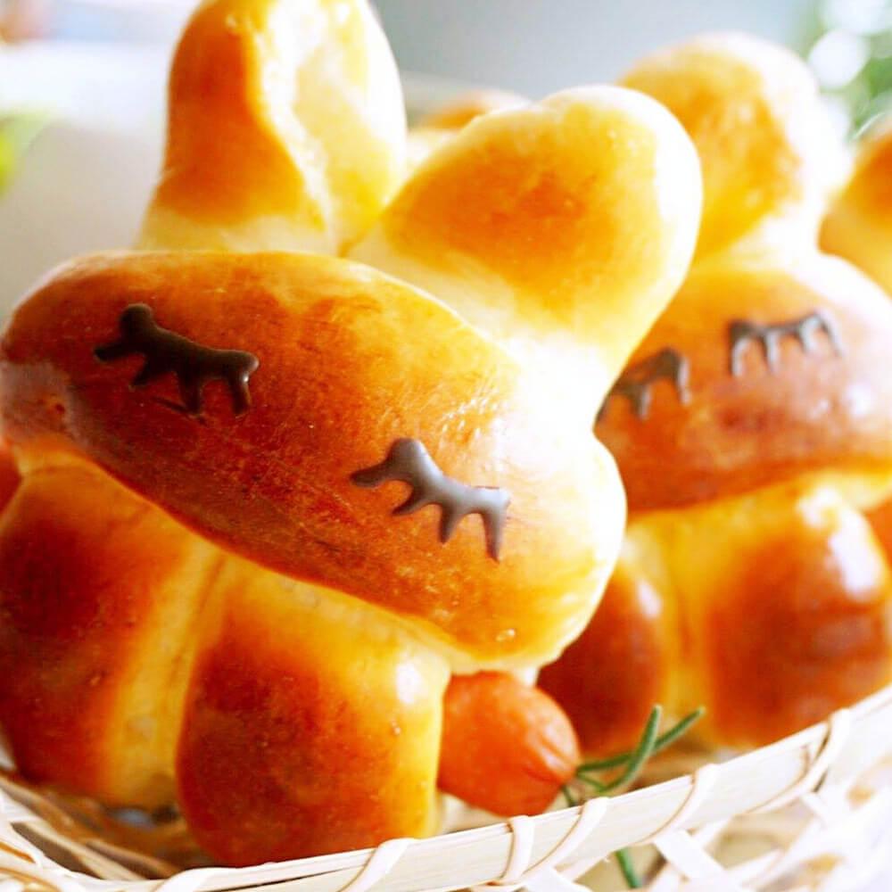 萌萌的小兔子面包