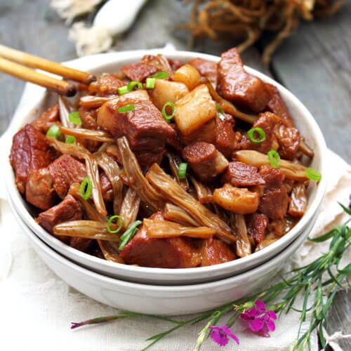 小豇豆炒小肉肉
