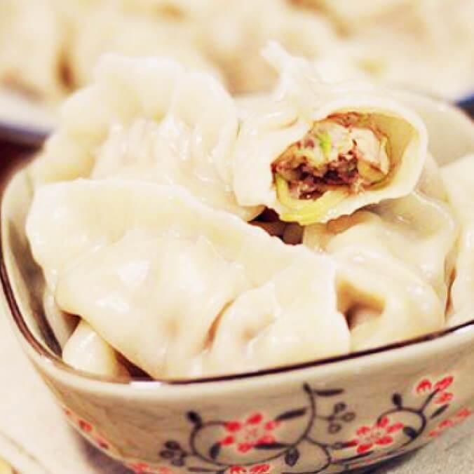 香菜肉饺子