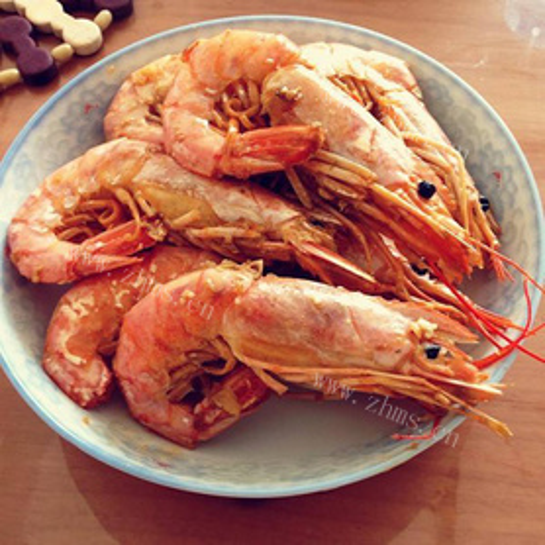 霸道的香煎阿根廷红虾