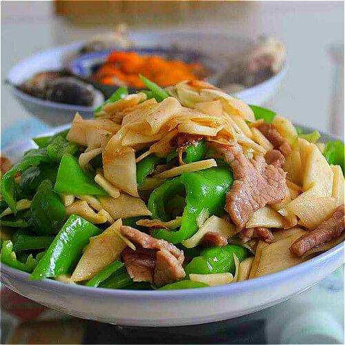 茭白炒肉(简单版)