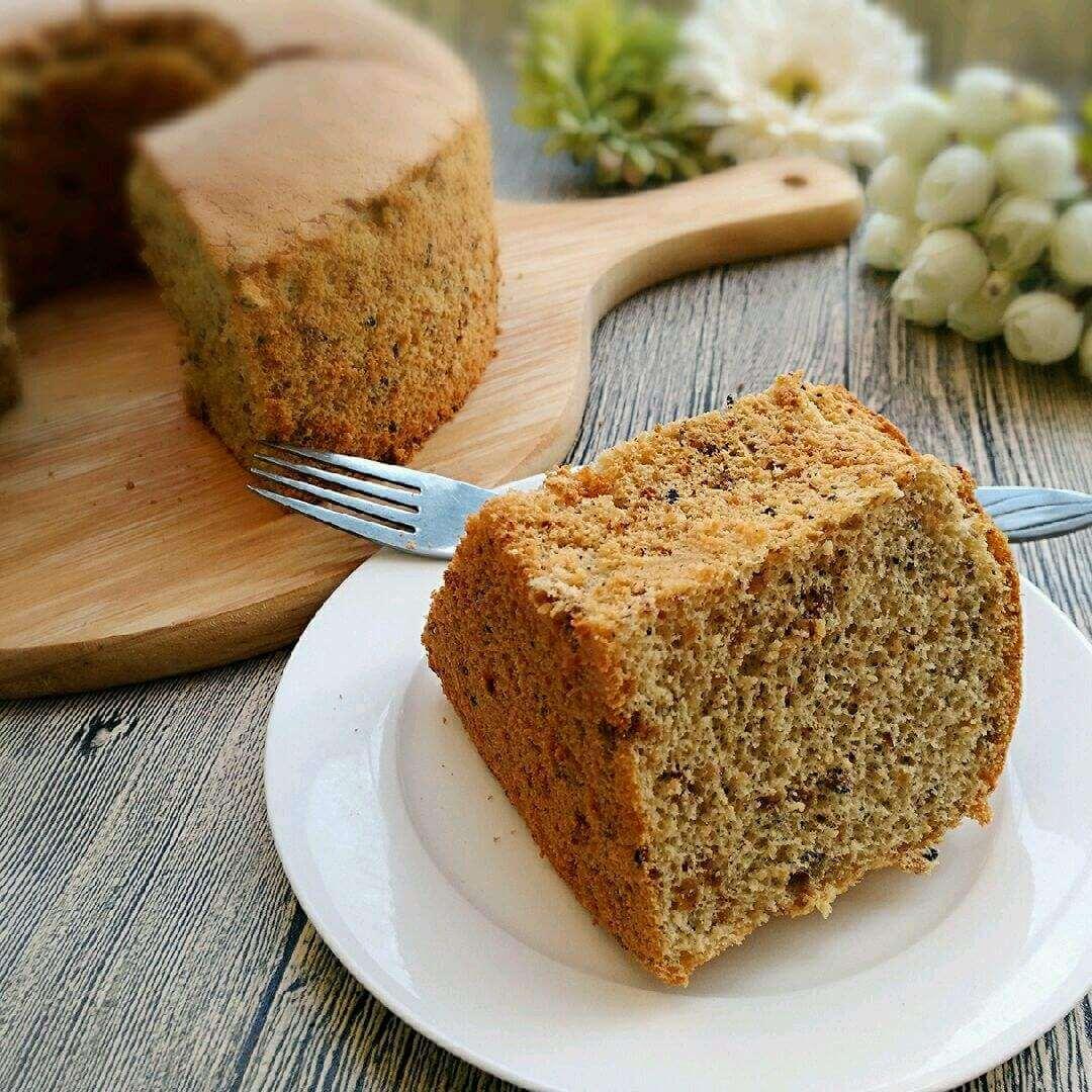 芝麻蒲公英戚风蛋糕