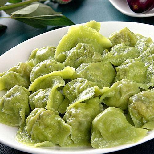 菠菜皮饺子