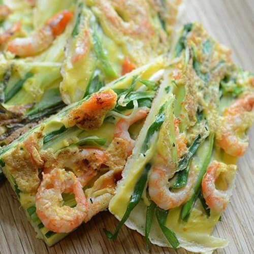 特色风味韩式海鲜葱饼