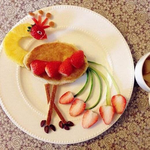 可口爱心拼盘早餐