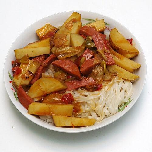 自制土豆面条