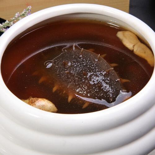 清汤菜胆炖海参