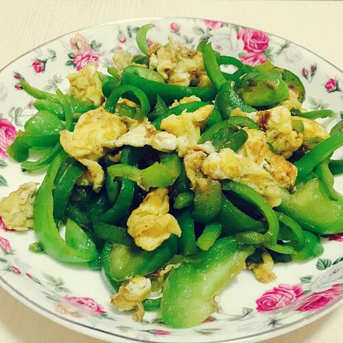刀豆青椒焗蛋