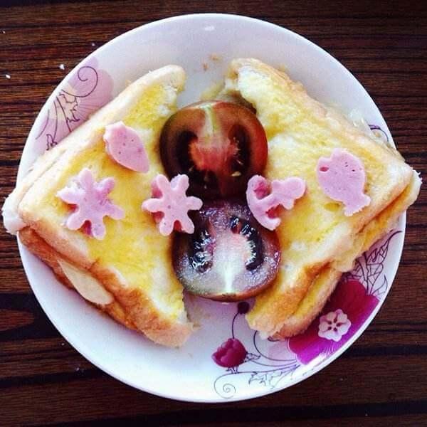 美味的快手早餐三明治
