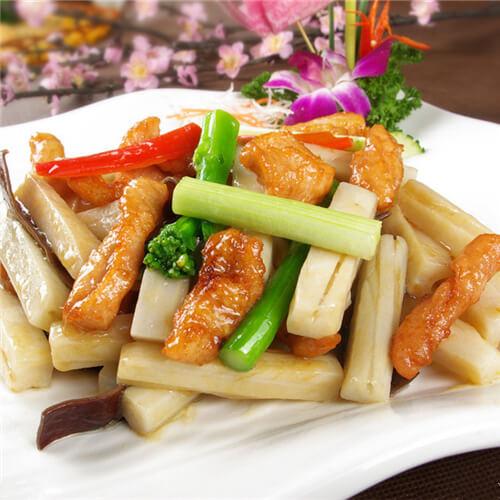 好吃的莲藕炒豆腐条